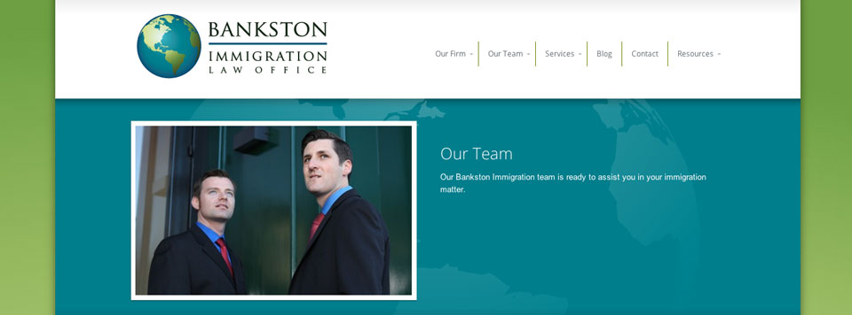 Logo and Website Design: Bankston Immigration Law Offices