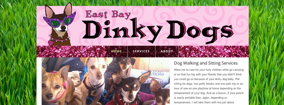 Logo and Website Design: East Bay Dinky Dogs Dog Walking and Sitting