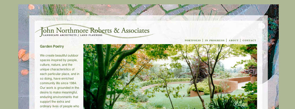 Logo Update and Website Design: John Northmore Roberts Landscape Design
