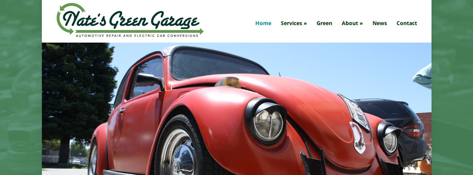 Logo and Website Design: Nate's Green Garage