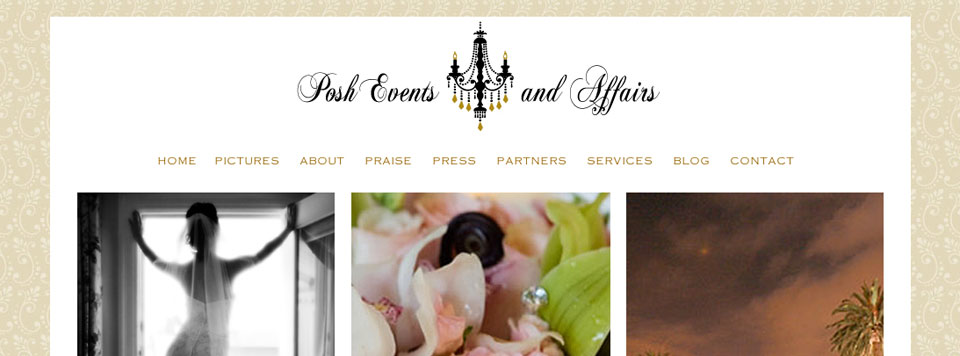 Logo Update and Website Design: Posh Events and Affairs