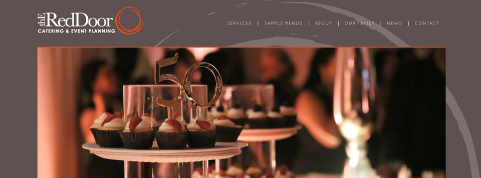 Logo Update and Website Design: The RedDoor Catering and Event Planning