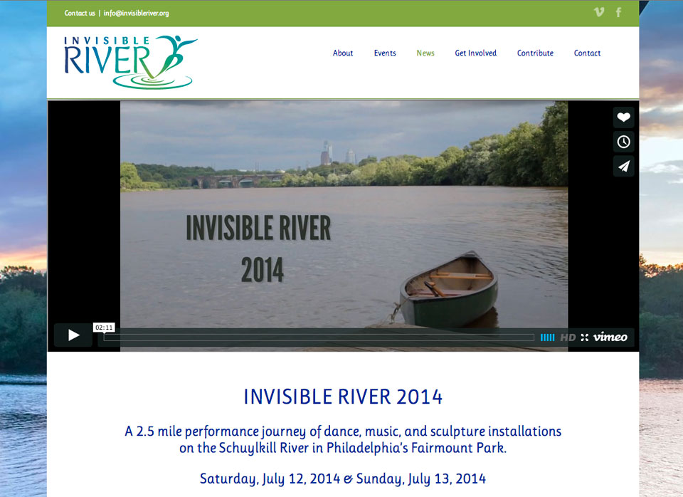 Invisible River Website